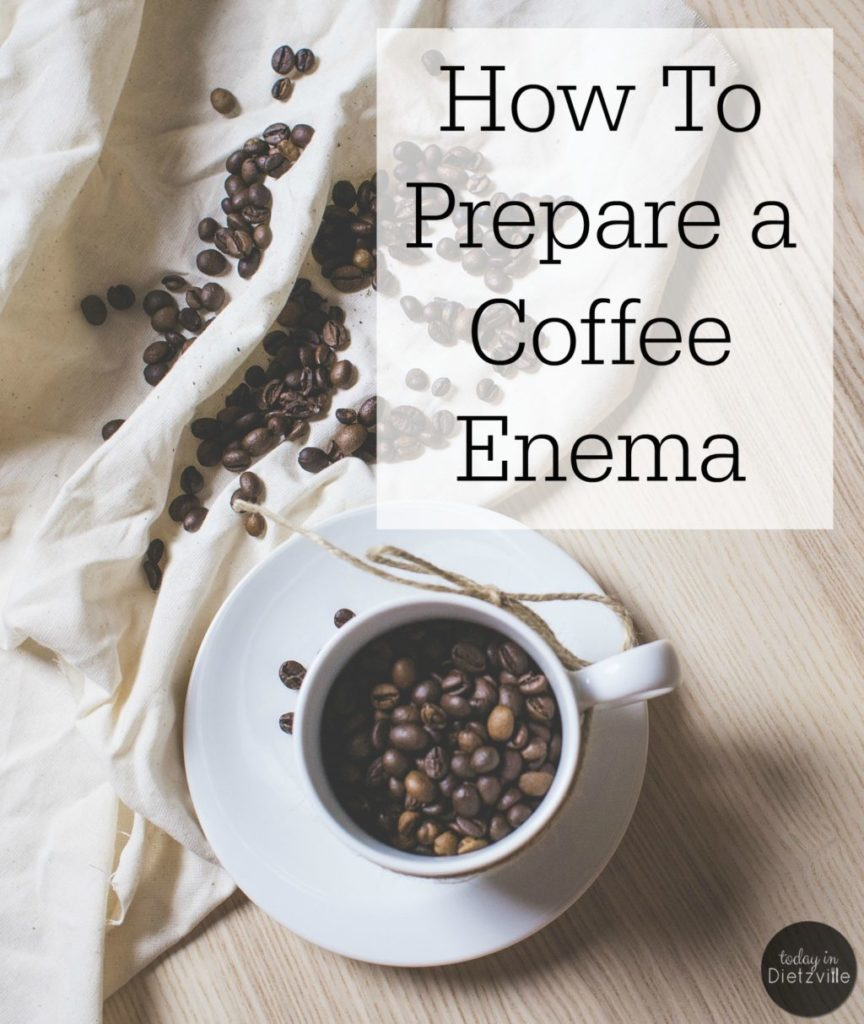 "How To Prepare a Coffee Enema | Have you noticed that I write about coffee enemas a lot? Every time I write about coffee enemas, the #1 question I get in the comments is, ""How do I prepare the coffee enema?"" And the #2 question is, ""How much coffee do I use?"" If you're one of my readers who's asking these questions, today's post is for you! 