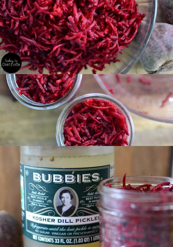 How To Ferment Vegetables In Bubbie's Pickles Liquid }| Once you've eaten all your crispy, delicious Bubbie's pickles, you'll be left with about 2 cups of liquid that's still full of fermenting potential! I have cultured veggies with a starter culture, with whey, and with salt only -- and I LOVE using Bubbie's Pickles liquid as my starter culture! | TodayInDietzville.com
