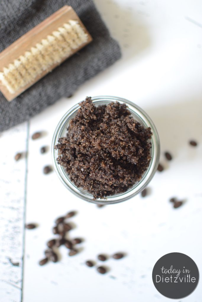 Vanilla Coffee Sugar Scrub | A good use for sugar and coffee that won't cause the jitters or a blood sugar crash? An exfoliating body scrub that gives cellulite a temporary boot. Oh, and you'll come out of the shower smelling pretty fantastic too! | TodayInDietzville.com
