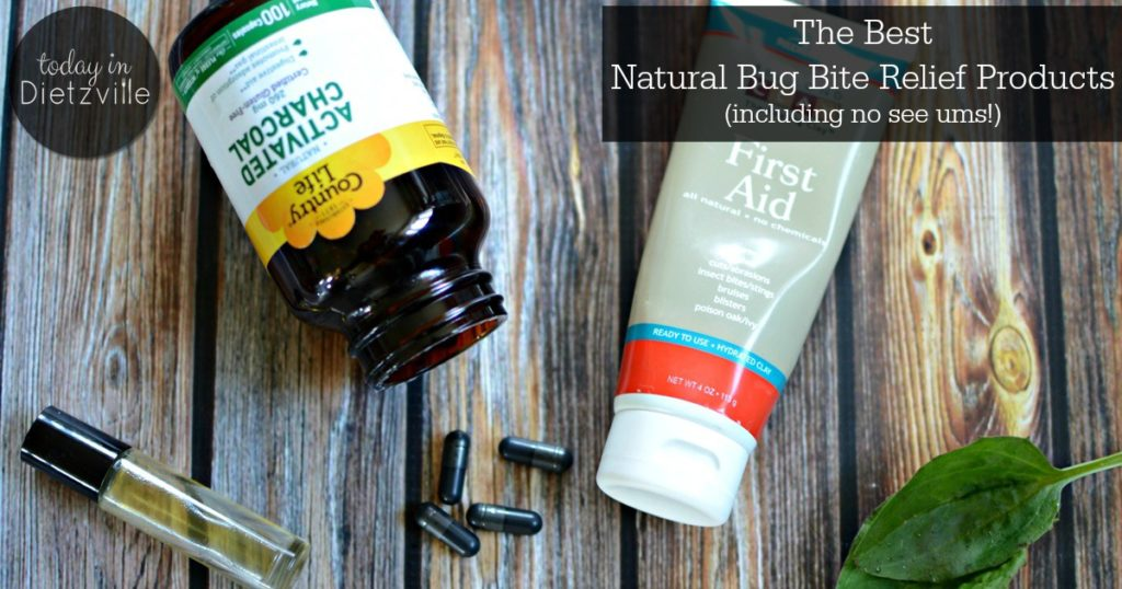 The Best Natural Bug Bite Relief Products | You can't wait for warm weather and sunshine... only to be carried off by the bugs. What to do? From bentonite clay to essential oils and more, these are the best natural bug bite relief products I've found! They even provide relief for no see um bites! | TodayInDietzville.com