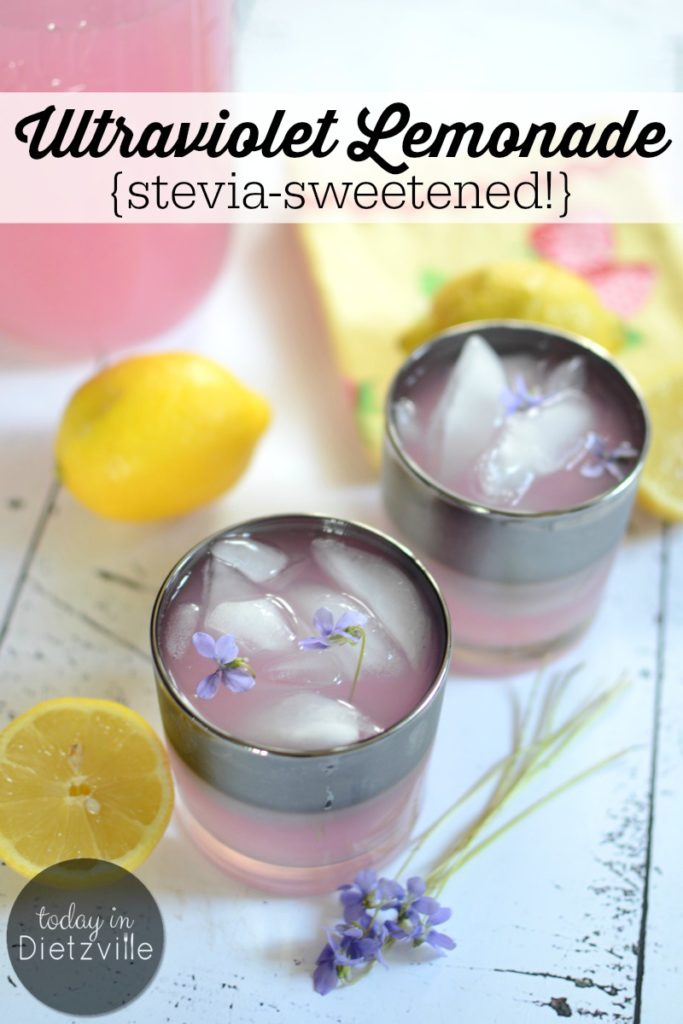 Ultraviolet Lemonade {stevia-sweetened!}